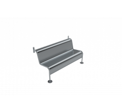 Wall Mounted Security Bench Seat Style A
