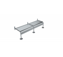 Wall Mounted Security Bench Seat Style B