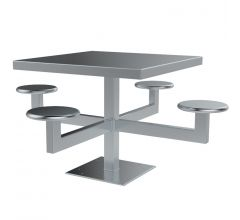 Security Integrated Table and Stool Set