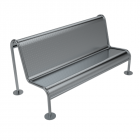 Freestanding Security Bench Seat Style A
