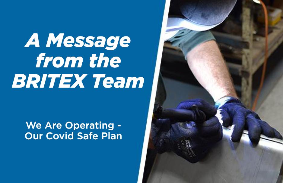 Britex Covid Safe Plan and Updates