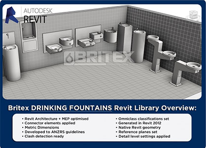 Revit Families For Drinking Fountains