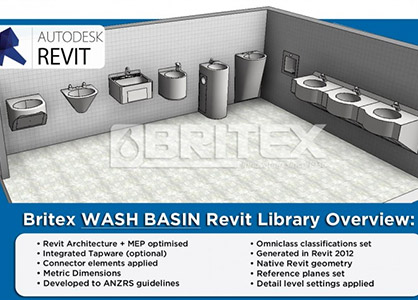 Revit Families For Wash Basins & Commercial Tapware