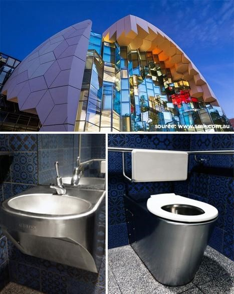 toilet at Geelong Library and Heritage Centre/></p>